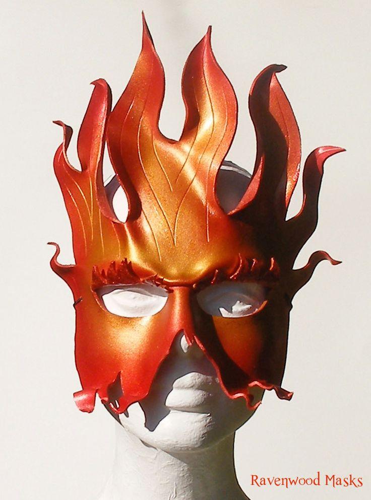 Fire leather mask by Alyssa-Ravenwood