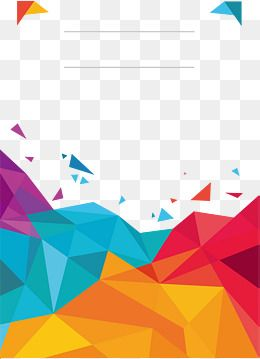Color Low Polygon Poster Cover, Vector Png, Colour, Color ...