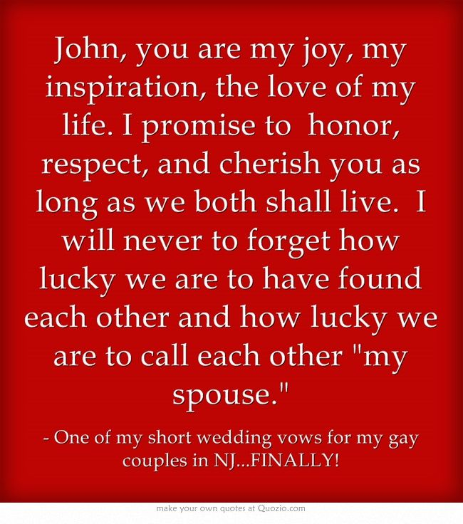 A Short And Sweet Vow For Any Couple
