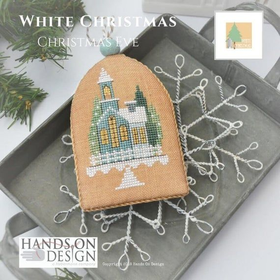 CHRISTMAS EVE White Christmas Ornament Cross Stitch Kit | Etsy in