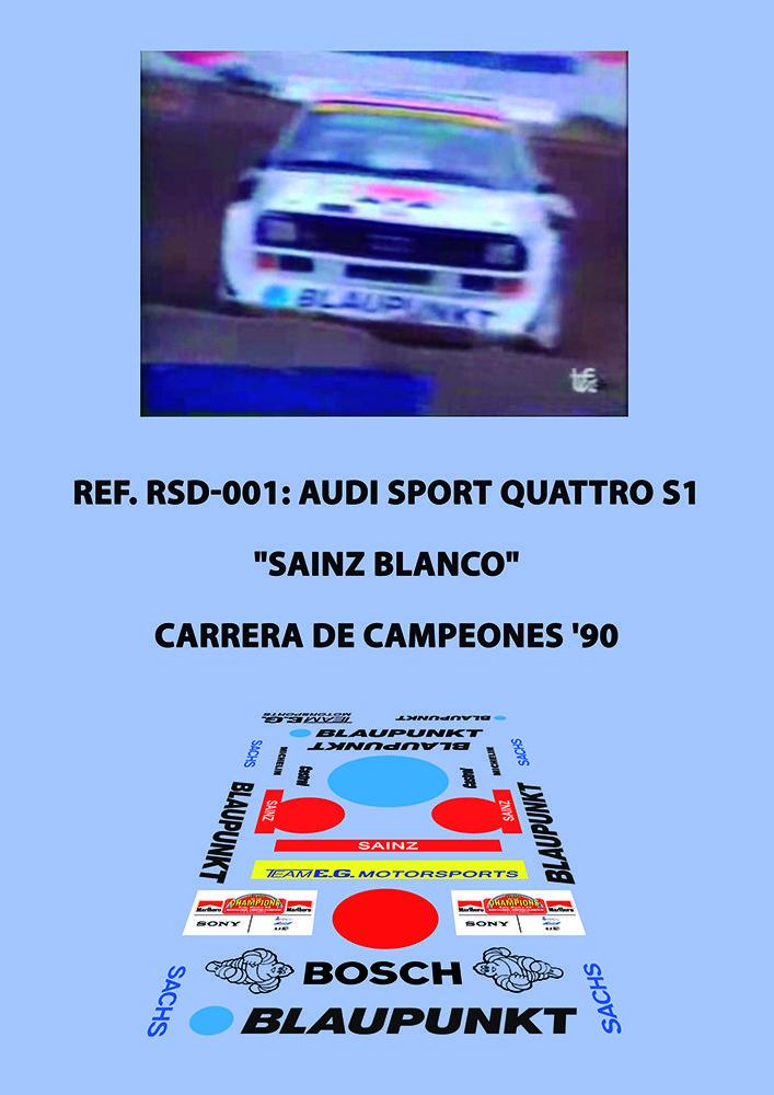 Ref. RSD-001 - Audi S1 (Blanco/White) - Sainz ROC'90