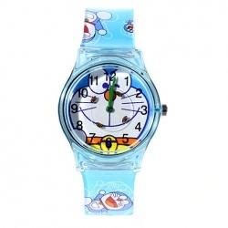 6018G-Fashion and Special Doraemon Pattern Circle Design Wrist Watch for Children
