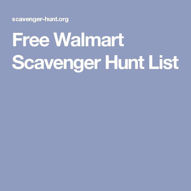Scavenger Hunt List >> Free Walmart Scavenger Hunt List | love story and cute ...