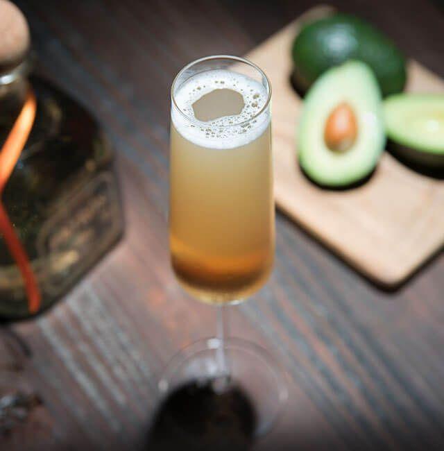 Enjoy Margarita Royale, a cocktail made with Patrón Reposado.