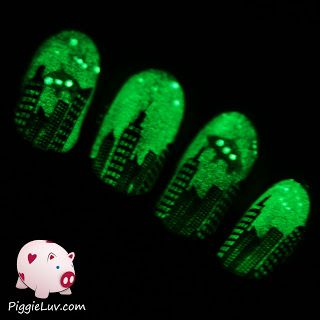 95 best glow in the dark nail art images on pinterest dark nails and i made some nail art to greet them prinsesfo Gallery