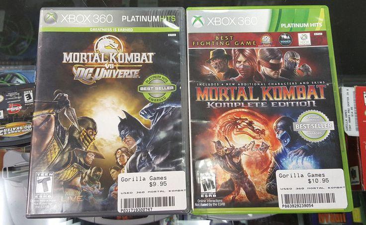 Mortal Kombat Komplete Edition & Mortal Kombat vs. DC Universe - Xbox 360 -