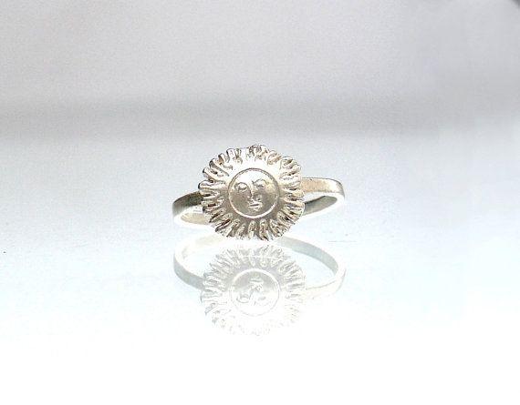 Sun MIdi Ring  Thin Sun Ring  Sun Face Ring  Sun by profoundgarden