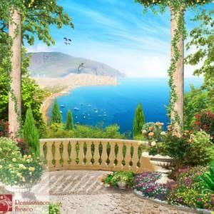 Вид из окна и балкона - Фрески и фотообои каталог изображений - Каталог изображений - AvantageStudio