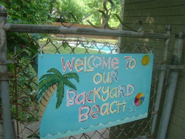 Beach Backyard Ideas backyard beach for kids and shade what a neat idea looks fairly easy too Backyard Beach Cute Ideas For Signs