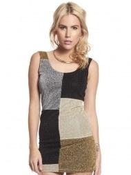 Lurex Panel Dress in Multi $30