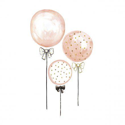 Lilipinso Stickers palloncini rosa con pois oro Idee regalo