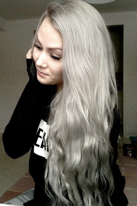 Titaniumsilvergrey Hair Color  Hairstuffs  Pinterest  Posts Colors And