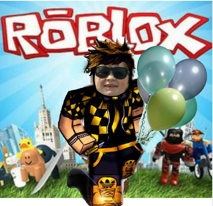Invitation Pic with child's face | ROBLOX birthday party ...