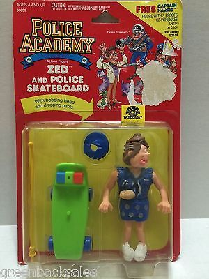 (TAS008457) - The Police Academy Figure - Zed and Police Skateboard