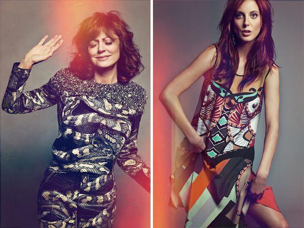 "Susan Sarandon and her daughter Eva Amurri Martino in Neiman Marcus' ""The Art of Fashion ""campaign"