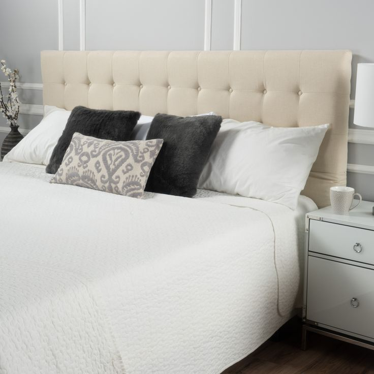 charleston fully upholstered king cal king headboard - Lowprofilekopfteil