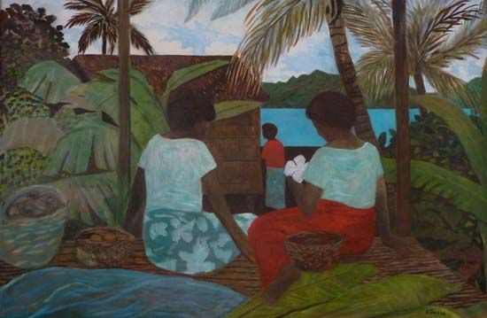 Towards The Island by Ray Crooke at Richard Martin Art - The Directors Collection - This exhibition showcases an impressive range of highly collectable work by Australia's most prestigious artists.