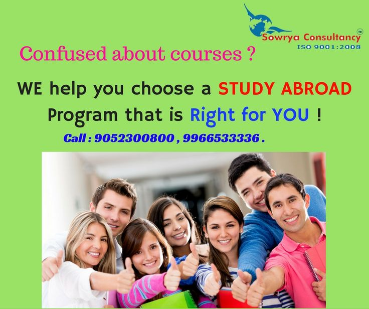 Study in abroad contact - sowrya consultancy www.sowrya.com