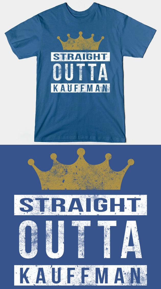Kansas city royals straight outta kauffman t shirt for Custom shirts kansas city