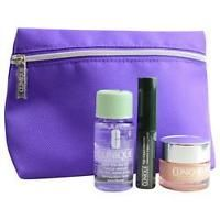 Clinique by Clinique All About Eyes 0.5 oz + High Impact Mascara Black + Makeup Remover 1 oz + Cosmetic Bag for Women