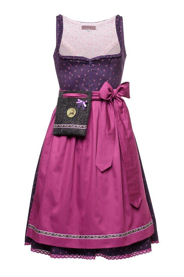 #Dirndl ANNA - dunkles Lila sorgt für Herzklopfen. Das lila Midi-Dirndl ist in limitierter Auflage von 13 Stück exklusiv bei #TrachtenBrummsel erhältlich.