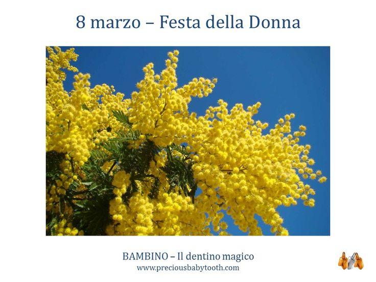8 marzo - Festa della Donna BAMBINO - Il dentino magico www.preciousbabytooth.com #8Marzo #FestaDellaDonna #Bambino #Dentino #Magico #Regali #Gioielli #Ciondoli
