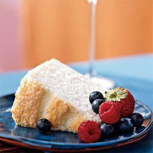 Angel Food Cake  http://www.foodnetwork.com/recipes/alton-brown/angel-food-cake-recipe/index.html