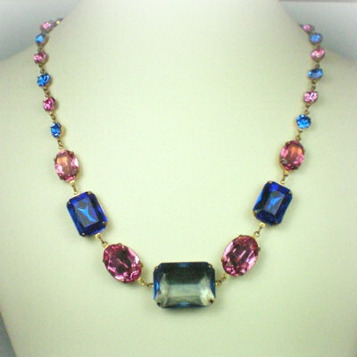 Catherine Parr Sapphire Rose Necklace