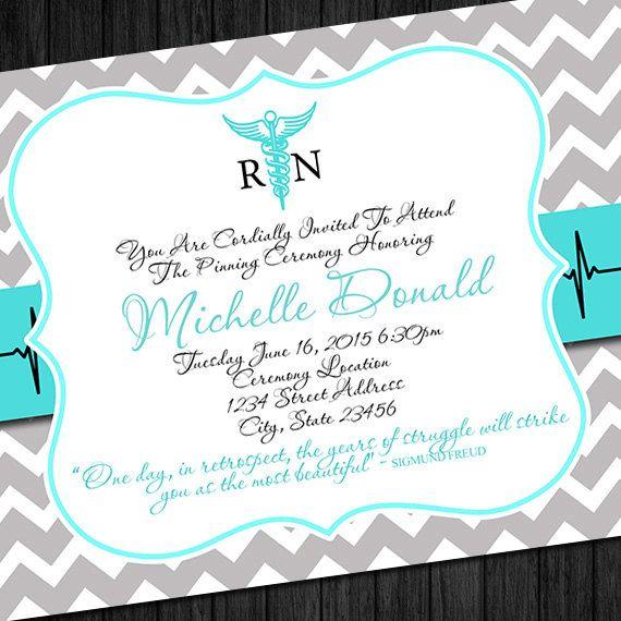 18 best graduation party announcement images on pinterest grad nursing graduation invitation diy printable nurse by chalicetee filmwisefo Image collections