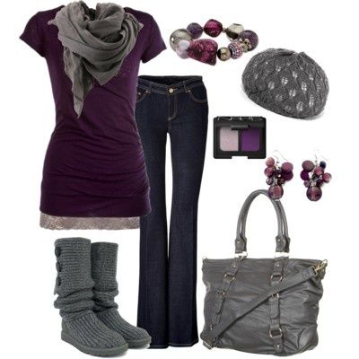 Ugg Classic Cardy Grey Boots - UGG Australia - Polyvore
