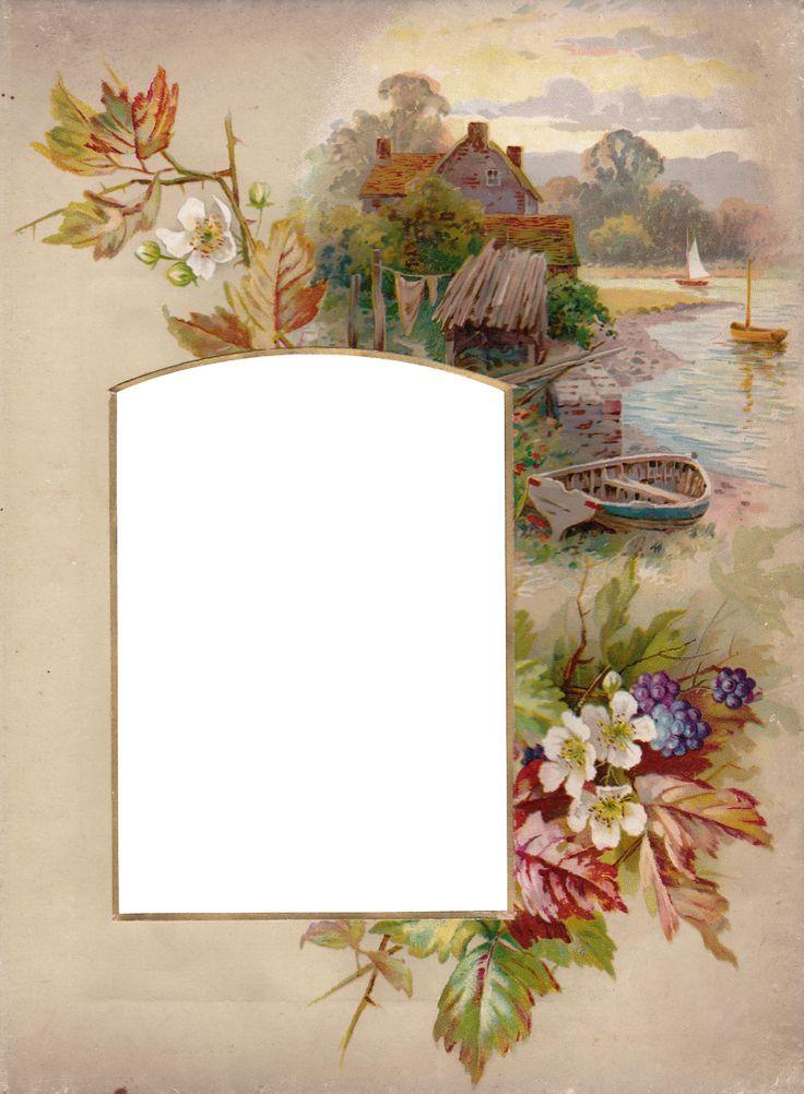 Vintage Autumn Album Frame ~ Zibi Vintage Scrap