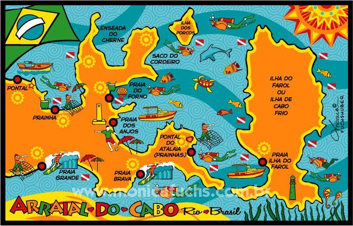 ARRAIAL DO CABO - Mapa - RJ