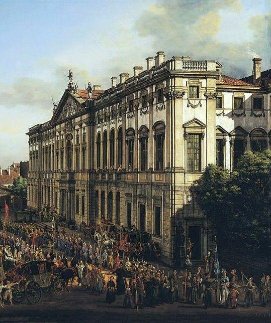 Bernardo Bellotto, Krasiński Square with the Palace of the Republic (detail). 1778
