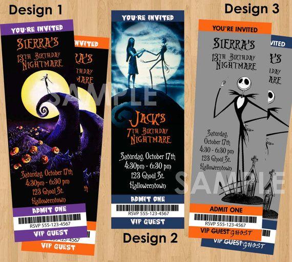 Halloween Invite - Printable Nightmare Before Christmas Birthday Invitation - Kids Halloween Invitation - Adult Halloween Party Invite on Etsy, $9.99