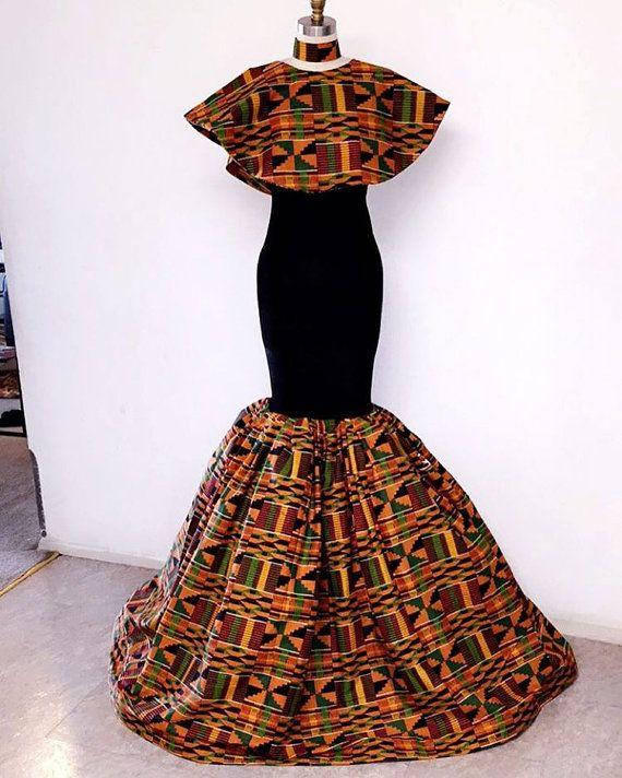 Robe de soirée kente par Africandressshop sur Etsy