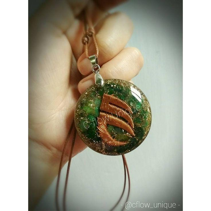"""17 Suka, 5 Komentar - CRystal FLower (@cflow_unique) di Instagram: """"Orgonite Pendant . Orgonite pendant logo Arjuna Group.. 100% handmade 😘 . Made from bronze, metal…"""""""