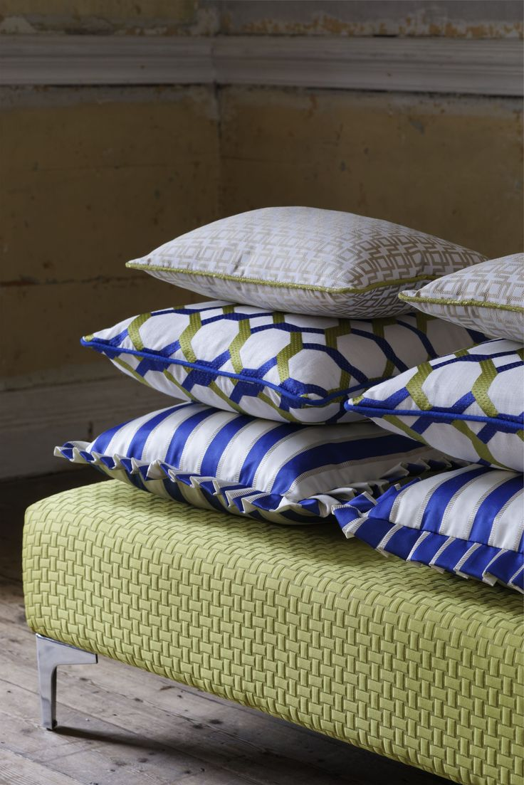 @clarkeandclarke cushion fabric from the Traviata range - available from Rodgers of York #fabric #cushions #interiors