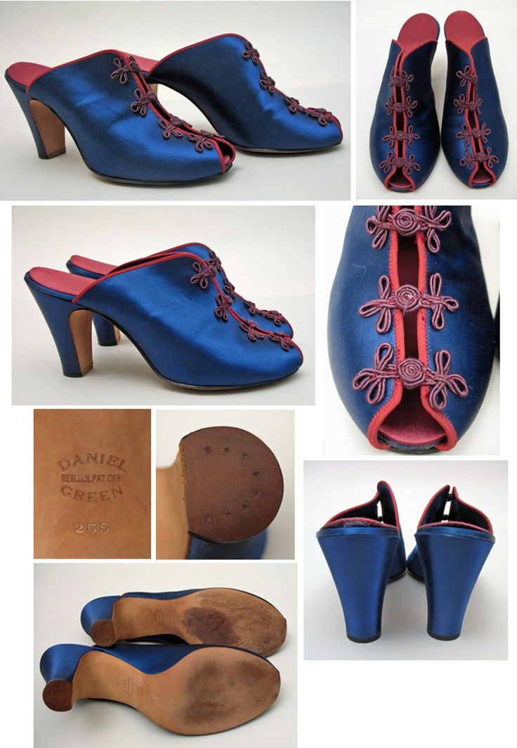 Vintage Daniel Green mules in royal blue  Daniel Green Made   Still Makes  Only Slippers    these are HOUSE slippers. 17 Best images about Daniel Green boudoir slippers on Pinterest
