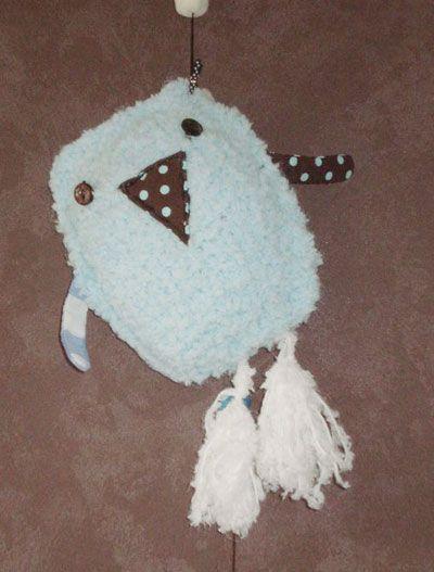 Doudou Monsieur oiseau en laine, Modèle de tricot - loisirs créatifs