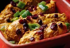 Kip Korma met Cranberries: kruidig zoet en heel lekker!