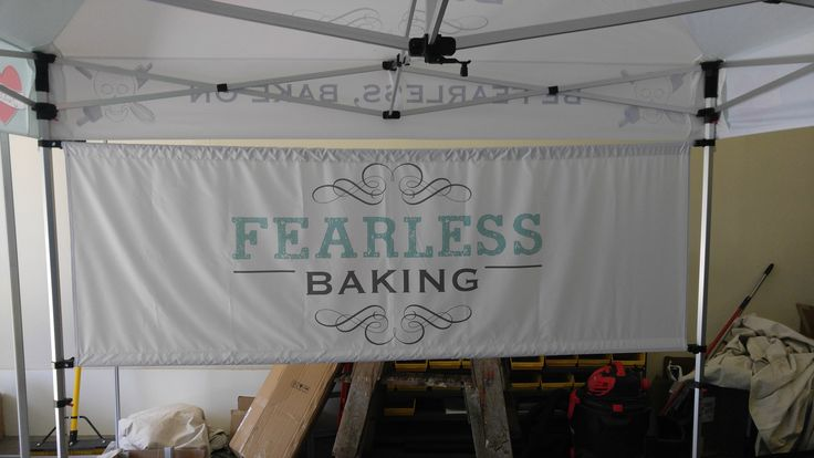 10X10' Customized Canopy Tent Back Wall Graphic