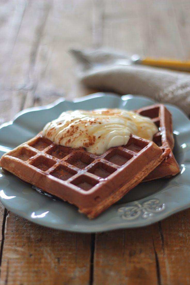 As Minhas Receitas: Waffles de Aveia e Canela com Iogurte Grego e Mel
