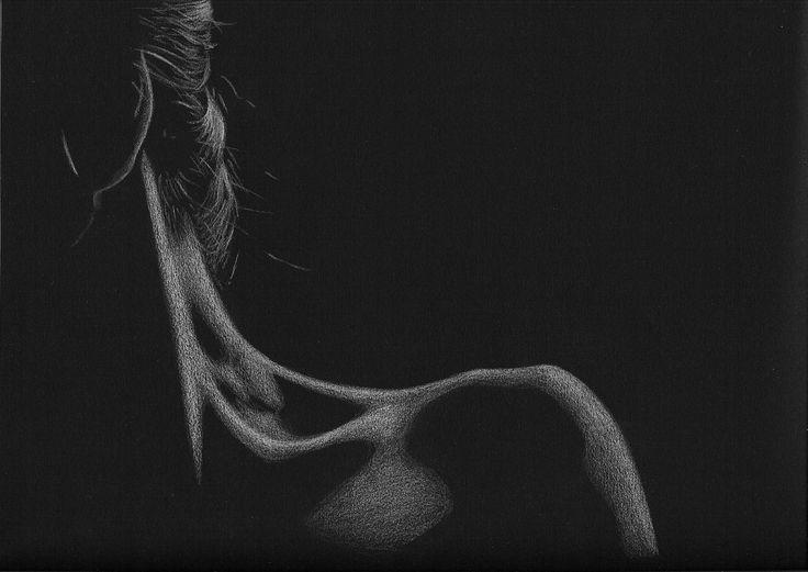 Dessins sur fond noir - Art by Lucie Geoffroy