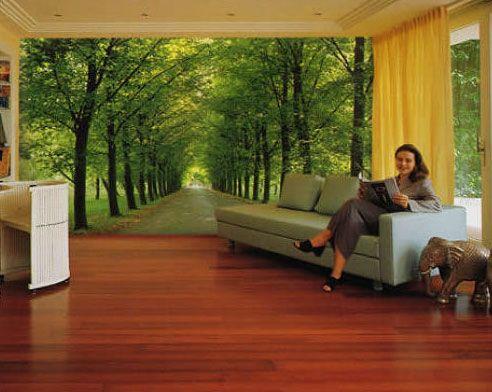 Idea de interiorismo para la pared con un fotomural