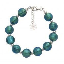 Valentina Murano Glass Ball #Bracelet Teal #jewellery #murano
