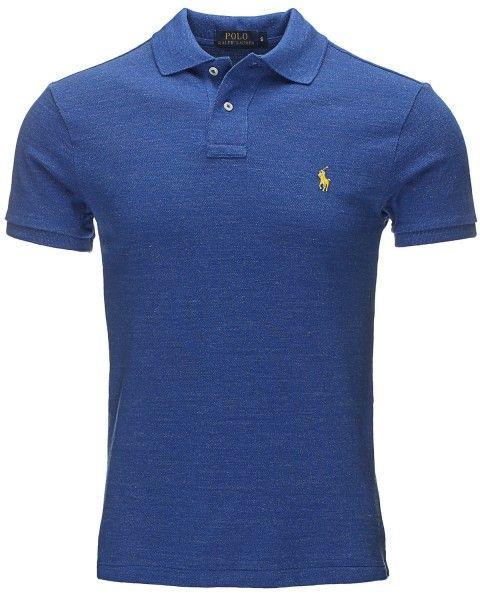 Polo Ralph Lauren SS KC SLFIT PPC – Poloskjorter – Mellomblå