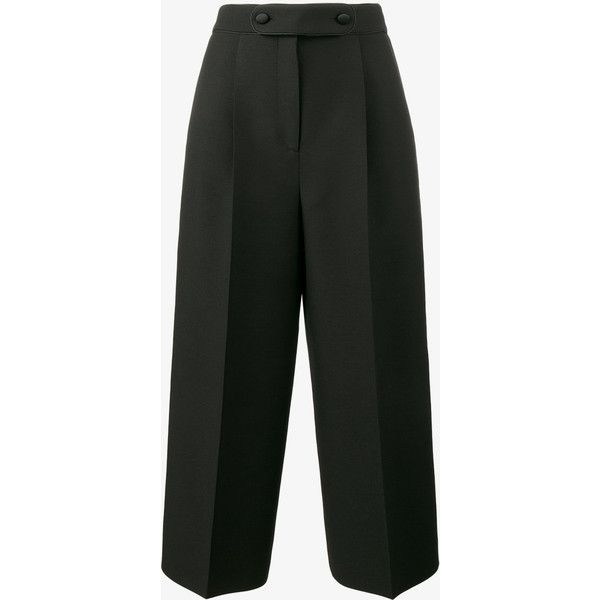 Valentino High Waisted Culottes ($1,585) ❤ liked on Polyvore featuring pants, capris, high rise trousers, high waisted pleated pants, high-waisted trousers, valentino trousers and high-waist trousers
