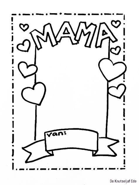 Kleurplaten Moederdag Oma.Kleurpl Kleurplaat Moederdag Met Versje Kids N Fun Dejachthoorn