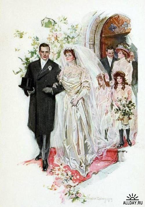 Свадебные открытки 19 века, для