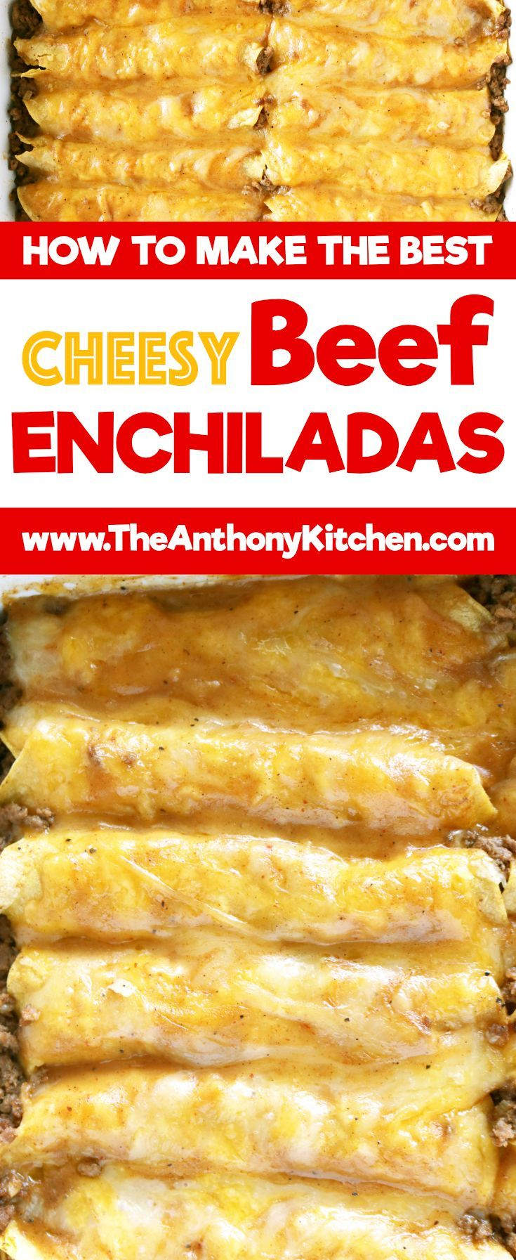 Best Beef Enchilada Recipe | The only recipe you'll ever need for authentic Tex-Mex beef enchiladas. Featuring ground beef enchiladas, a homemade beef gravy, and a freshly grated cheese blend | #kidfriendlydinner #enchiladarecipe #cheesyenchiladas